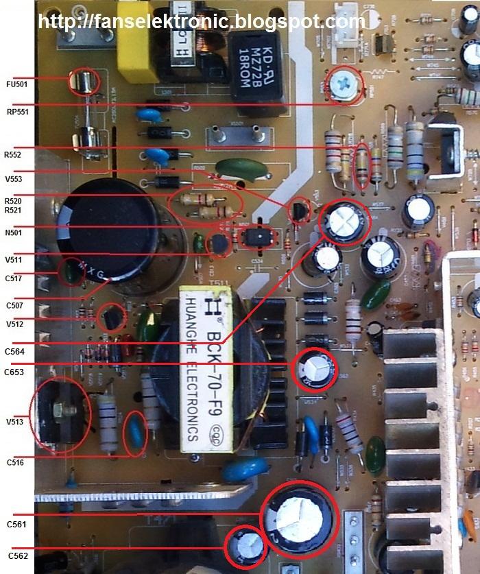 kerusakan yang sering terjadi pada regulator mesin tv cina :