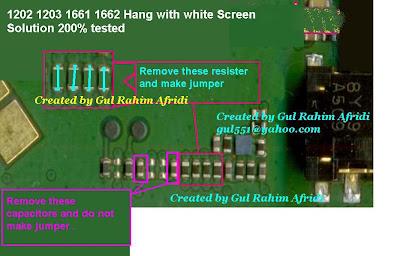 Nokia 1202, 1203, 1661, 1662, White Screen Solution