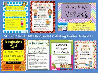http://www.teacherspayteachers.com/Product/Writing-Center-MEGA-Bundle-7-Writing-Activities-807766
