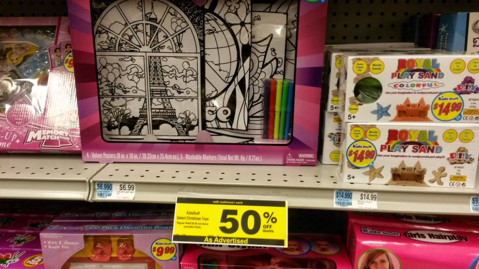so in my quick run to rite aid i also noticed that all of the christmas items are 50 off including toys