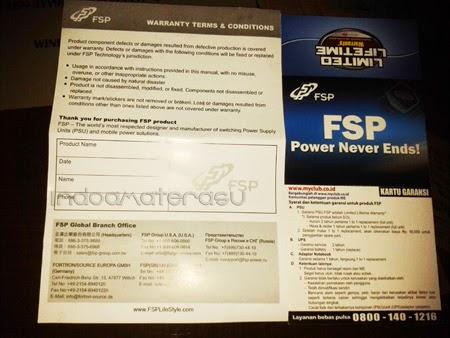 Kartu Garansi PSU Hexa + 500W