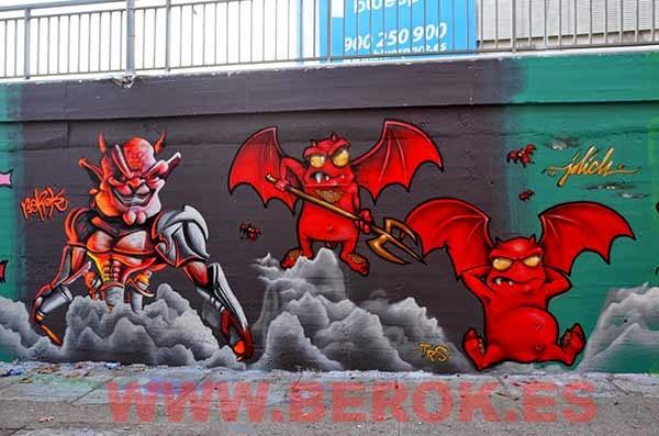 Graffitis Berok y Jolich