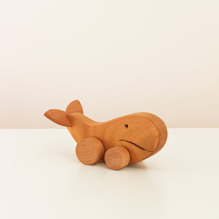 Unison home wooden whale toy