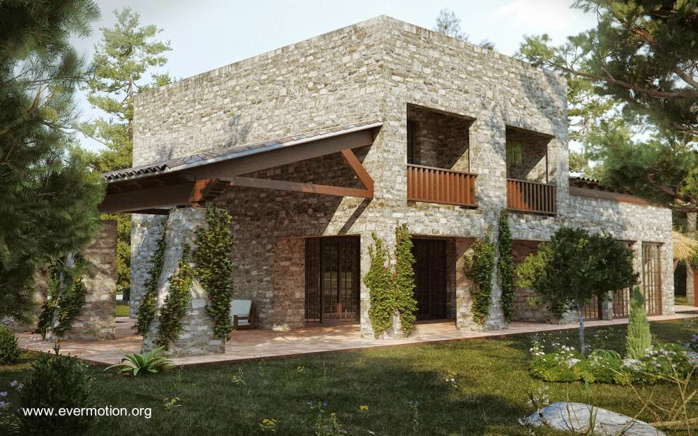 Casas estilo rustico moderno casas estilo moderno con for Fachadas de casas estilo rustico moderno