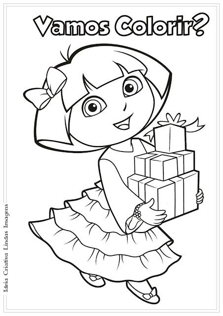 Desenho Dora a Aventureira para colorir