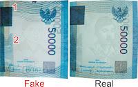 uang palsu diganti bank