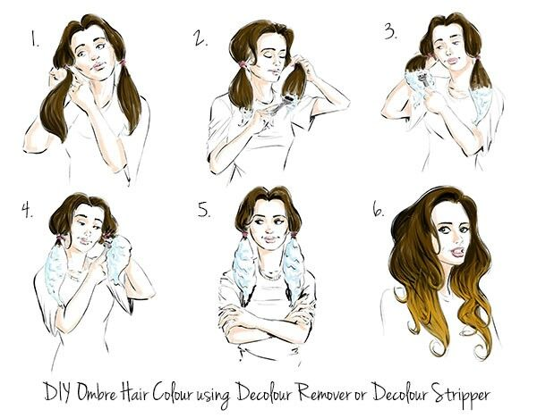 diy ombre hair step by step