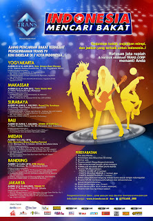 Cara Mendaftar Audisi Indonesia Mencari Bakat 2012