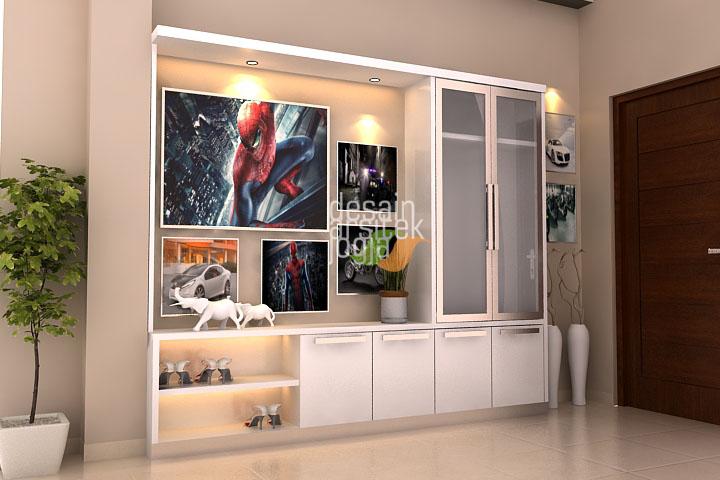 Pajang minimalis modern finishing cat duco karya desain arsitek jogja