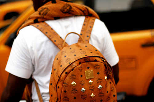 INMYLIFETIMENYC: SnapShot: Prince Aday with MCM Towel x Backpack