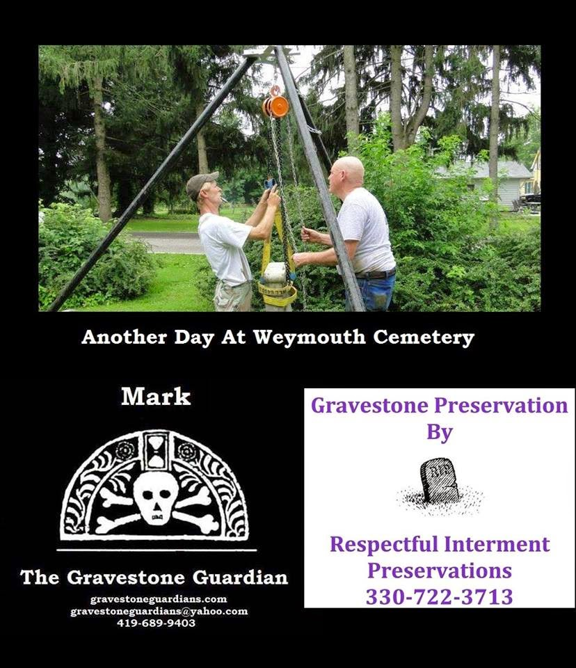 Gravestone Restoration at Ohio's Cemeteries by Mark Morton and Jay Russell