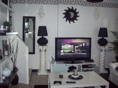Decorar uma sala em preto e branco