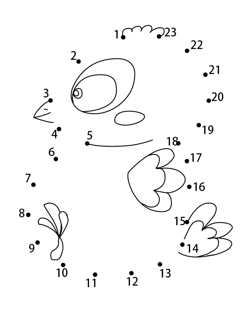 a desenhar Ligar pontos animais selvagens colorir