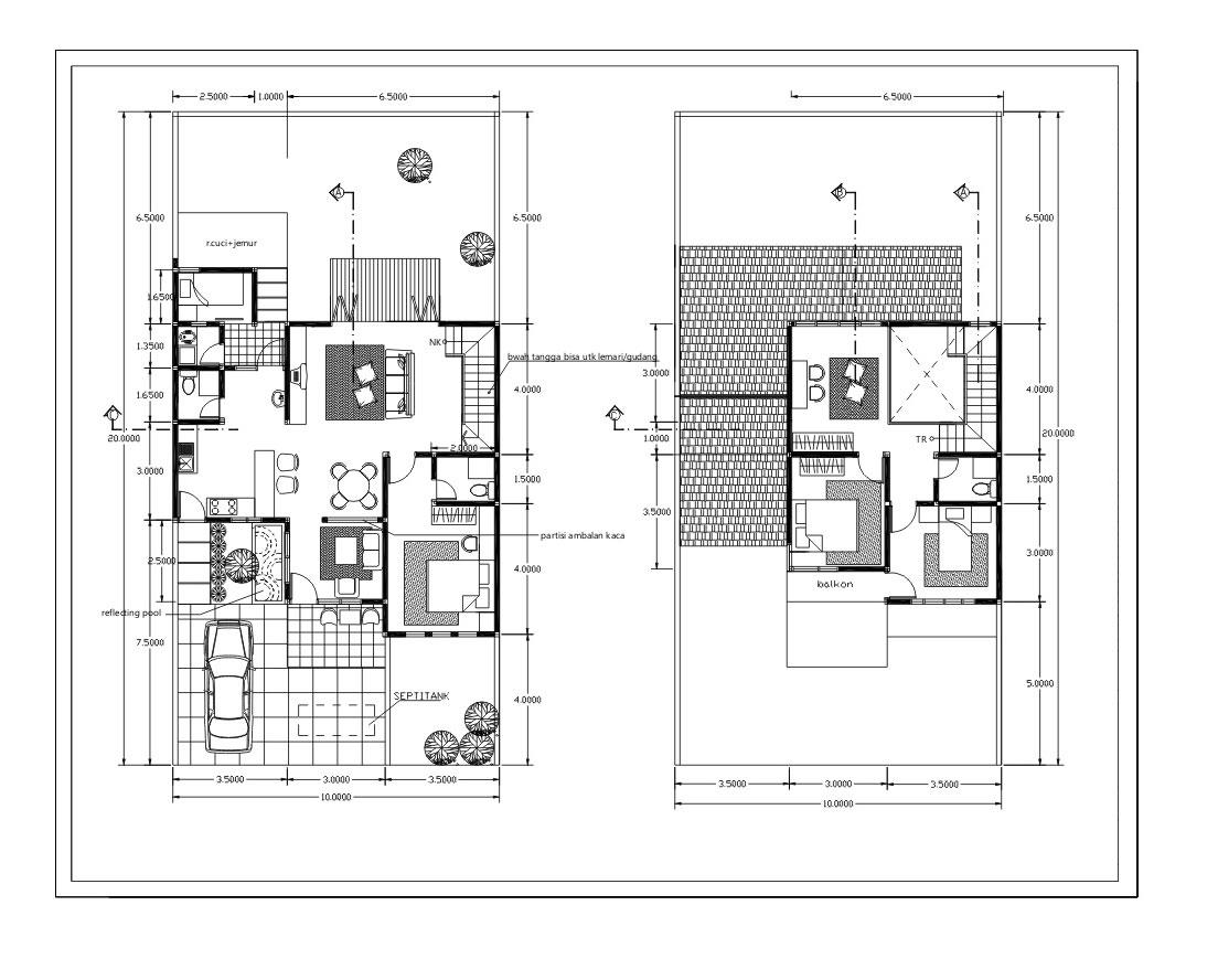 Koleksi Denah Rumah Minimalis Modern Terbaru  Inspirasi Desain Rumah Minimal