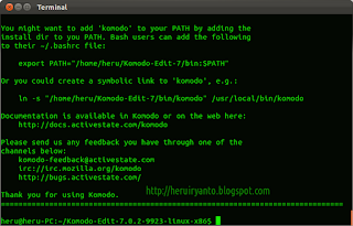 Install Komodo Edit di Linux Ubuntu