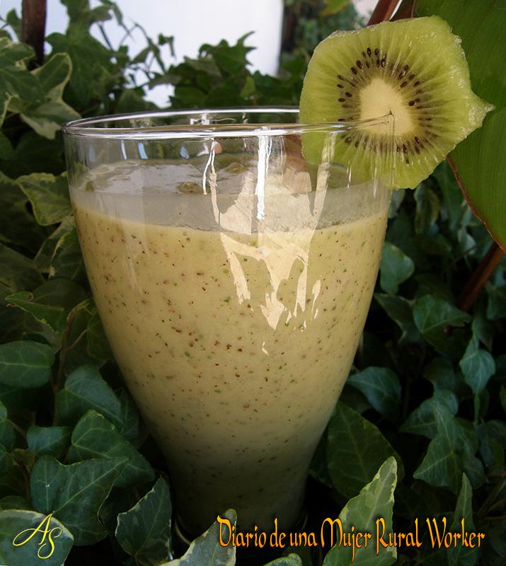 El diario de una mujer rural jugos verdes batido de kiwi - Batidos de kiwi ...
