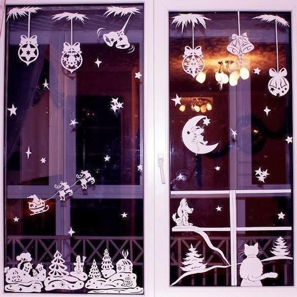 Christmas Window Stickers TemplatesDIY Craft Projects