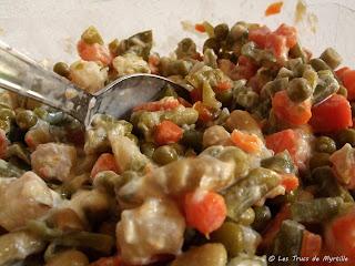 Rouleaux de jambon à la macédoine (voir la recette)