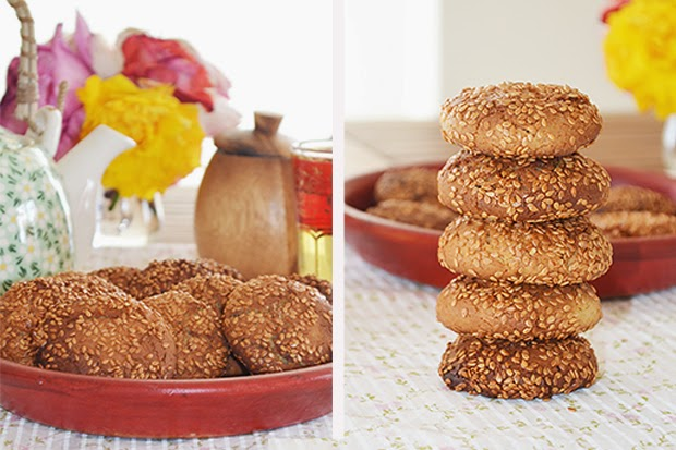 Sesame Cookies With Tahini - shewandersshefinds.com