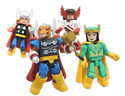 "San Diego Comic-Con 2011 Exclusive Thor ""Stormbreaker"" Marvel Minimates Box Set by Action Figure Xpress - Thor, Beta Ray Bill, Loki & Sif"