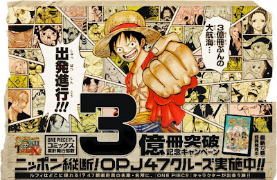 Bulan ini, Manga ONE PIECE Sudah Terjual Lebih Dari 300 Juta Copy