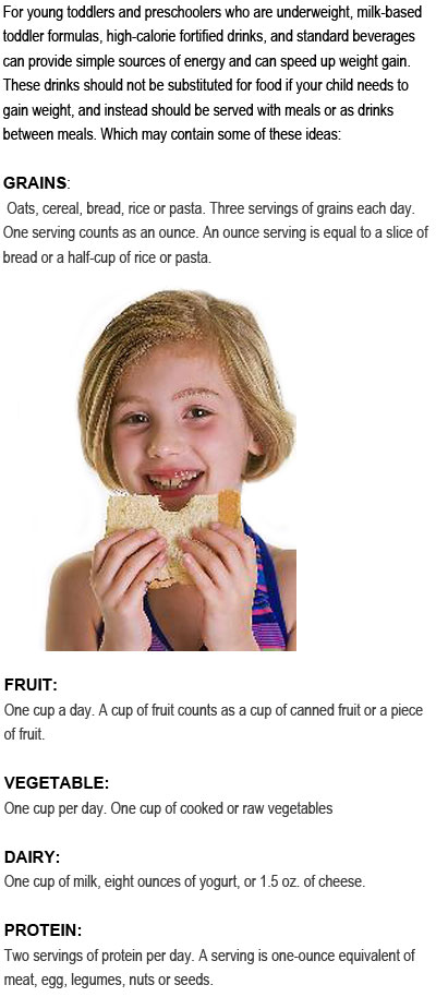 High calorie foods for toddlers