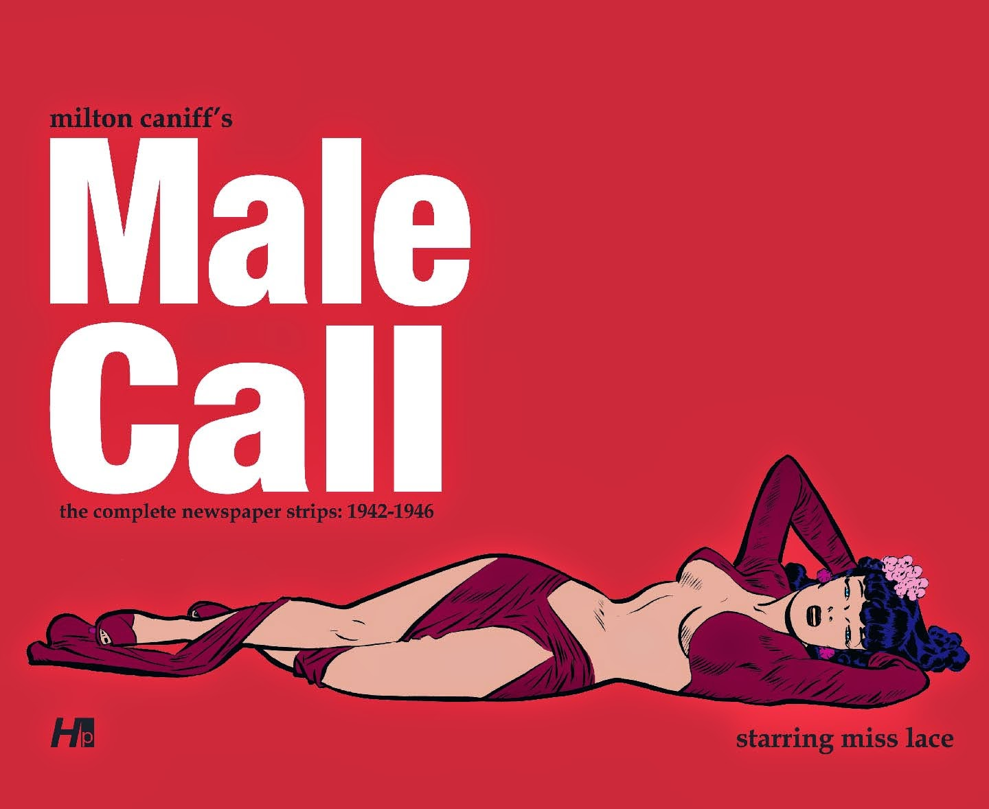 Photo of Male Call book- with Miss Lace lying across cover seductively