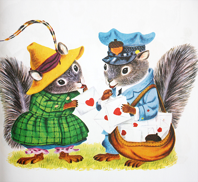 richard scarry's best storybook ever - squirrel postman with love heart letters