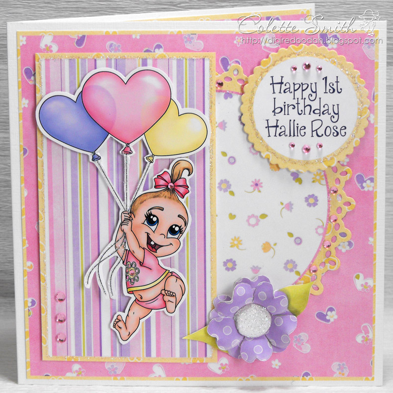 Digi Re Doo Dah Baby Girls First Birthday