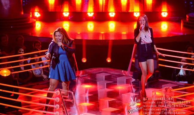 "Team Apl's Mackie Cao vs Mecerdita Quiachon sings ""Through the Fire""on December 13 Battle Round"