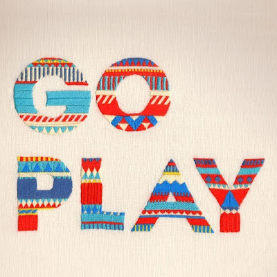 "Maricor and maricar Manalo embroider words ""Go Play"""