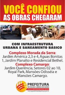 AS OBRAS CHEGARAM