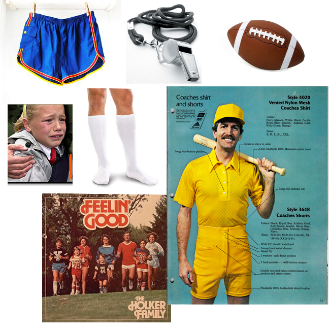 did you have a creeper pe coach arent they at every school nightmare educing retro short shorts and high socks really make this