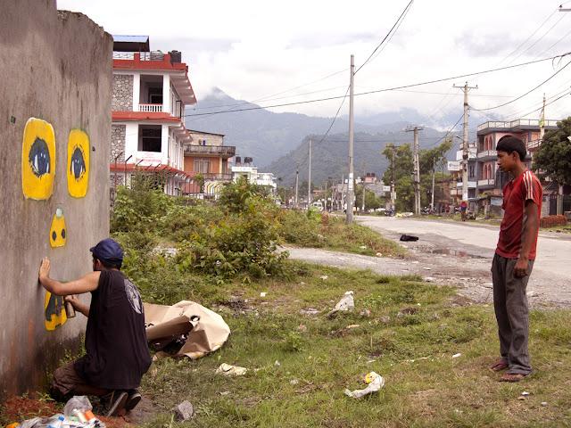 street art by stinkfish in nepal 12