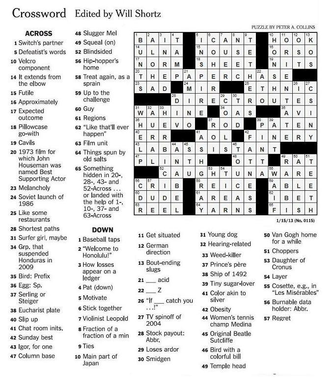 crossword puzzle hook up