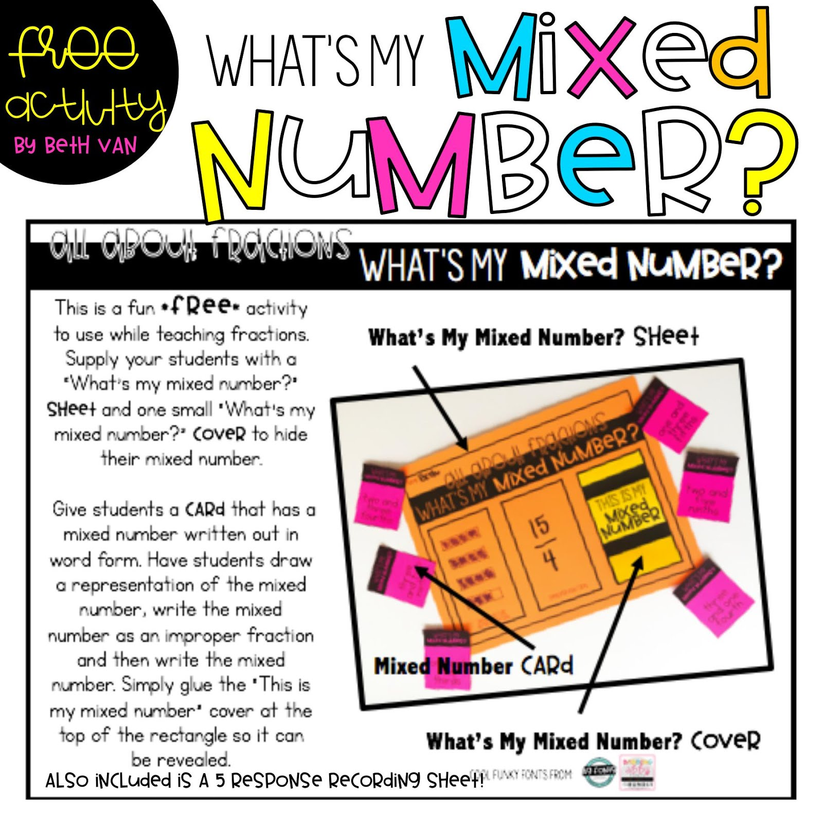 Students Are Given A Card With A Mixed Numberyou Can Have Them Choose Their  Own Or