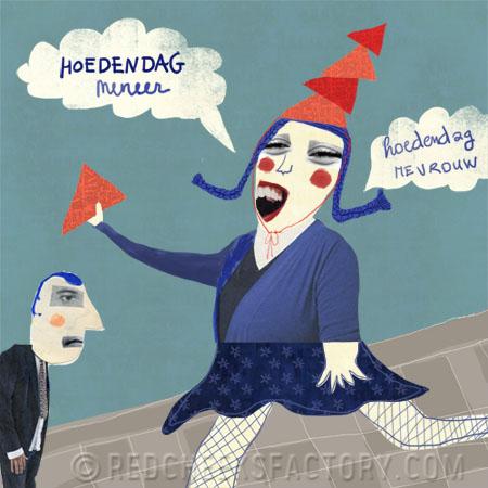 Illustratie bij Hoedendag gedicht van auteur Geert De Kockere
