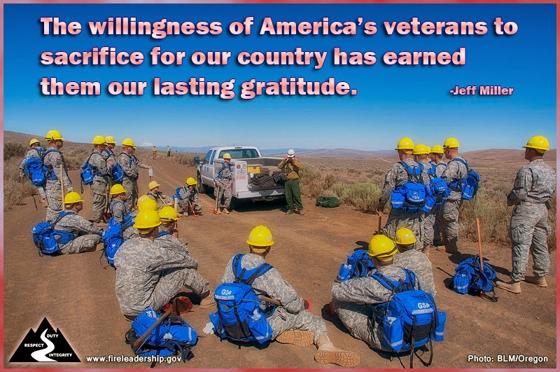 """The willingness of America's veterans to sacrifice for our country has earned them our lasting gratitude."" ~ Jeff Miller"