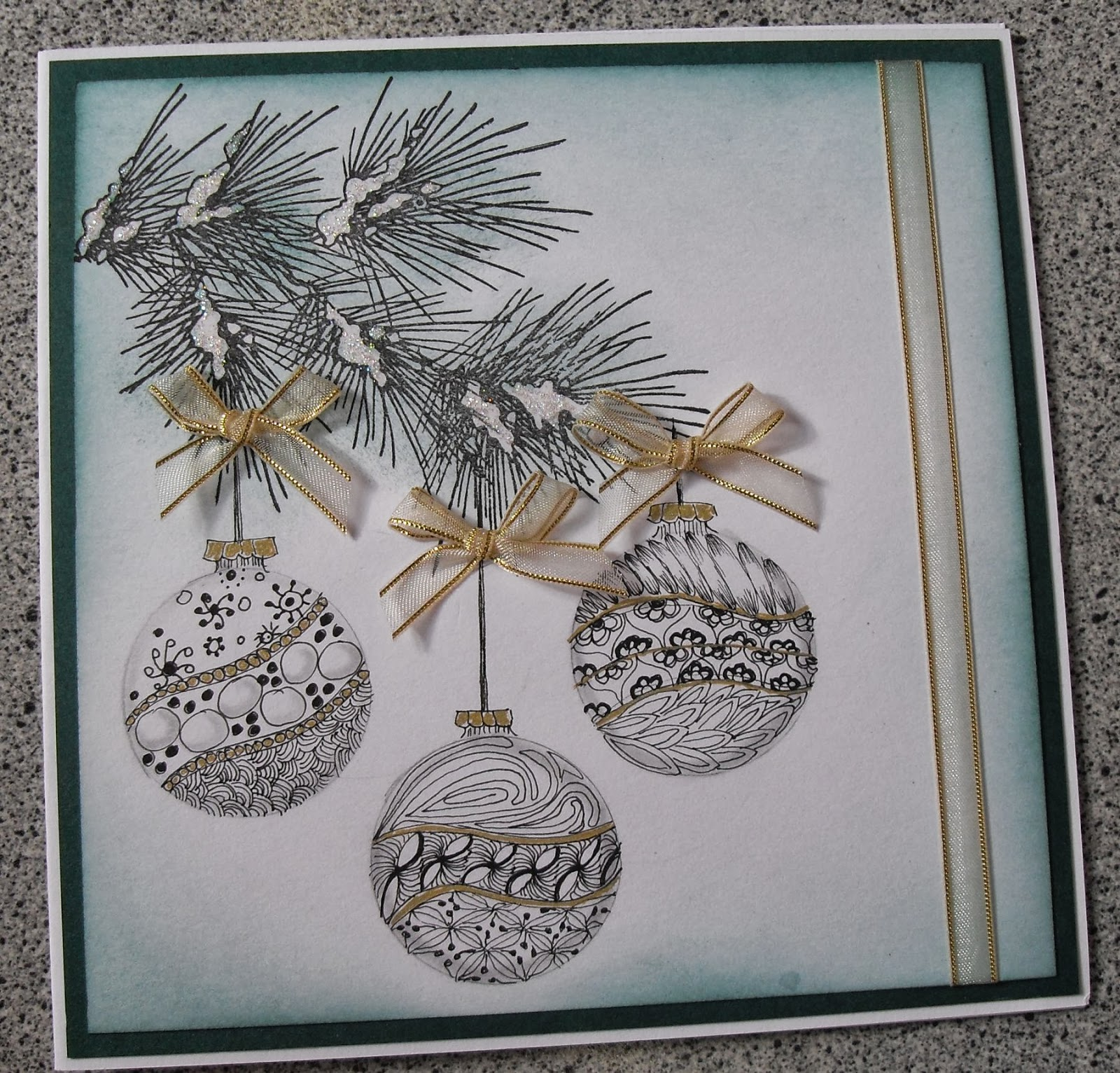 S & D Card Crafts: My Zentangle cards