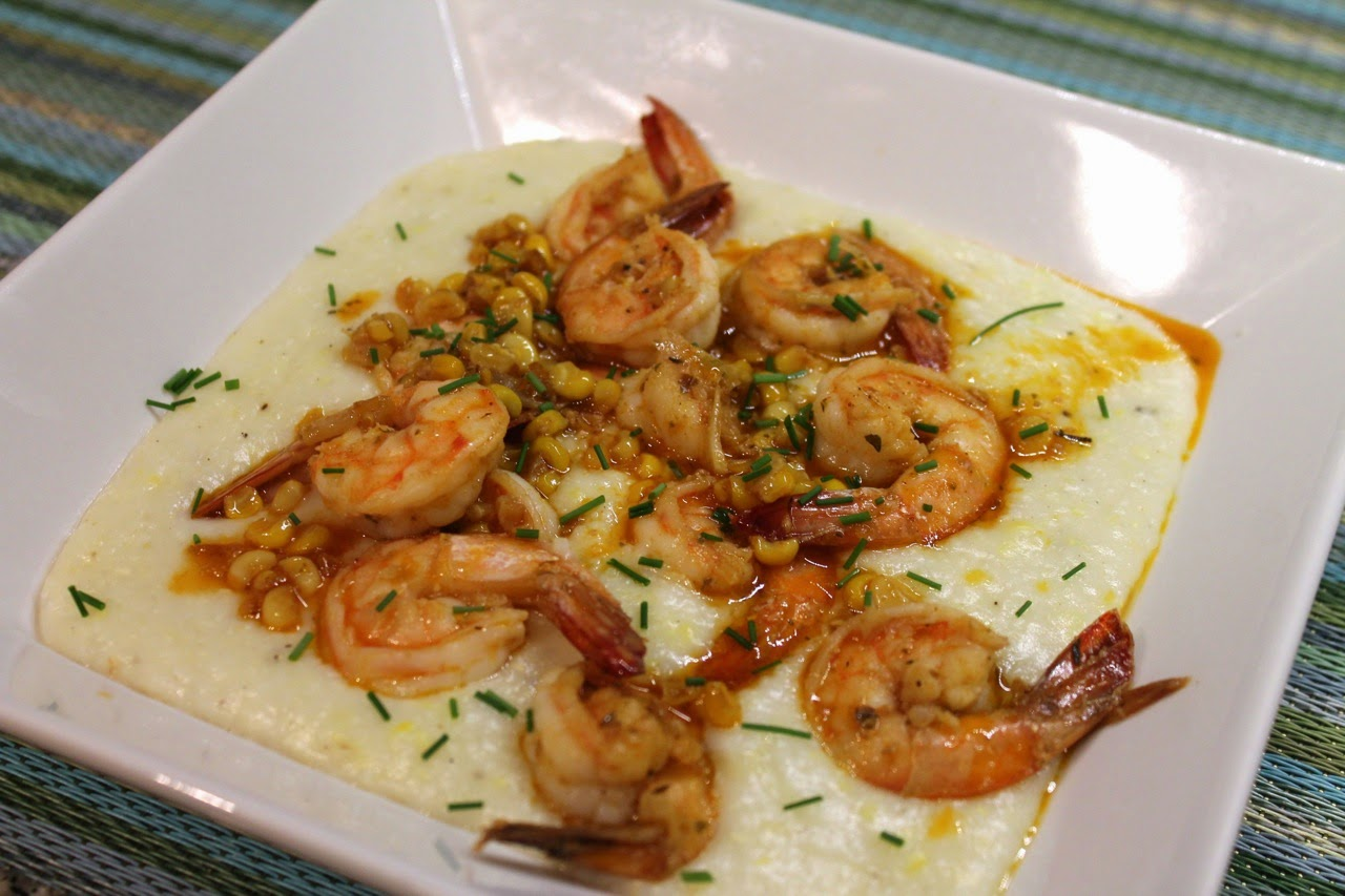Shrimp with Fresh Corn Grits