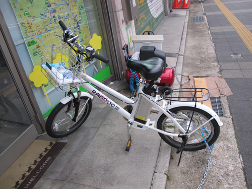 Rent A Power Assisted Bicycle In Kyoto
