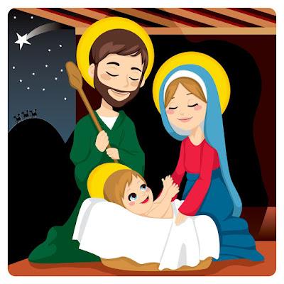 Sagrada Familia; Jesús, María y José. La Natividad