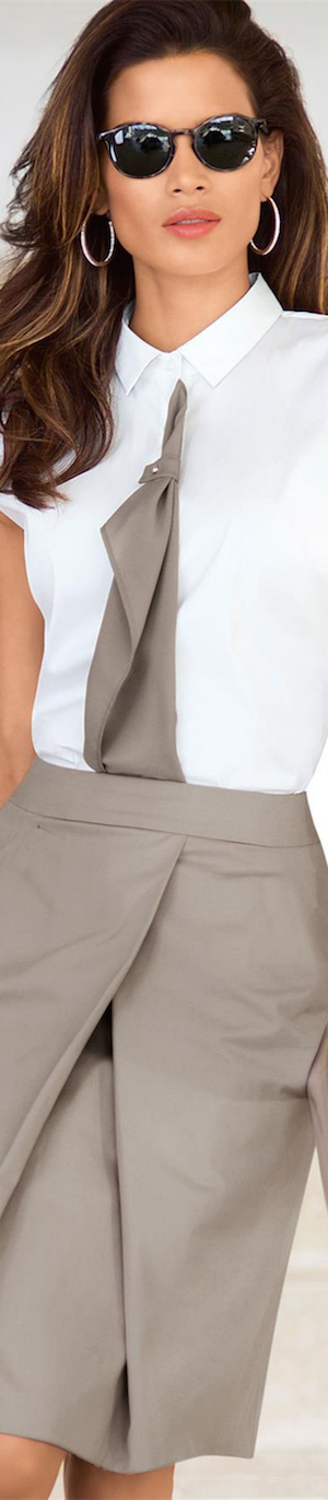 Madeleine Taupe Skirt