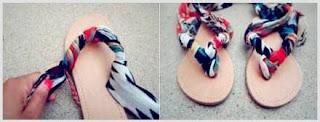 Kerajinan Tangan sandal jepit cantik, Sandal kain Perca