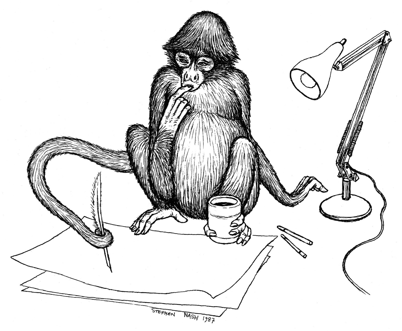 how to draw a cartoon spider monkey