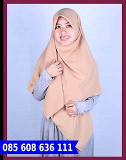 jilbab segi empat linen