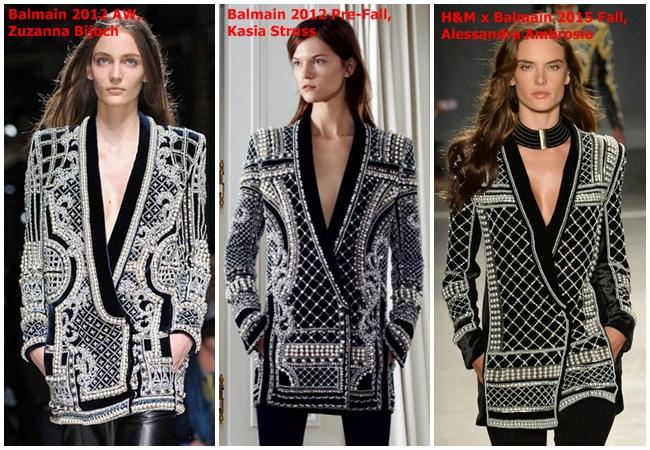 Balmain x H&M 2015 Fall Beaded Velvet Jacket