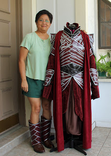 Lord Elrond armor costume handmade by Ruby Bayan.