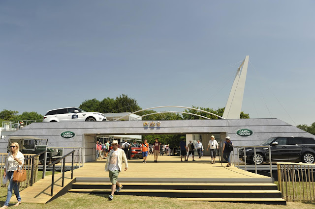 Land Rover stand at Goodwood Festival of Speed