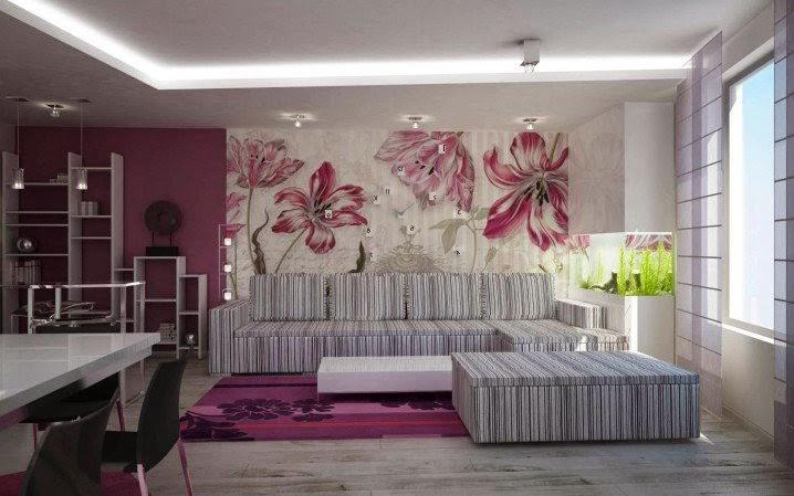 Добавить  Цветочный Узор в Вашей Гостиной